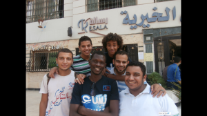 Group photo in front of Resala