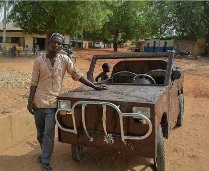 Nigerian SS3 student builds car, drives it to school in Kebbi